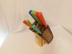 L2- Fiesta Stainless 8pc Kitchen Knife Set with Block
