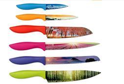 Landscape Kitchen Knife Set,home,garden,giftset,flatware,cut