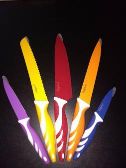living kit 5 knife chef set stainless