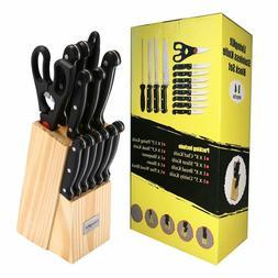 LivingKit Stainless Steel Kitchen Knife set Cutlery Set Knif