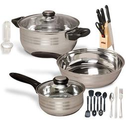 Gibson Lybra 32 pc Cookware Combo Set