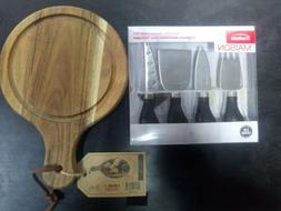 Trudeau Madison specialty cheese knife set with Twine wooden