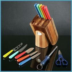 FIESTA MERENQUE 13 PC KNIFE SET W/ KNIFE BLOCK☀️PERFECT