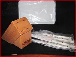 CUTCO Model 1809 White  Studio Set with Honey Oak Block.....