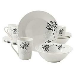 Gibson Home Netherwood 12-Piece Dinnerware Set, White New