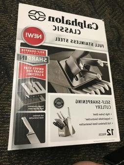 NEW Calphalon 2017943 Stainless Steel 12 Piece Cutlery Block