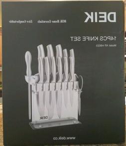 New Deik Knife Set, Knife Block Set, Stainless Steel Chef Kn