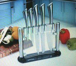NEW Premium Class Stainless-Steel Kitchen 6 Knife-Set with A
