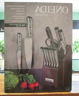 NEW!! Oneida Pro Series 14-Piece Stainless Steel Knife Block