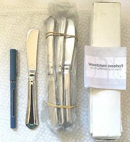 New~Set of 2 Fortessa 18/10 Stainless Steel Medici Butter Kn
