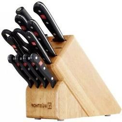 NEW! Wusthof Gourmet 12-Piece Kitchen Knife Block Set - 9312