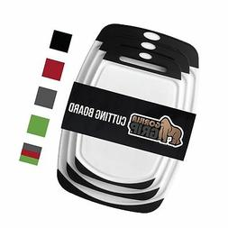 Gorilla Grip Original Reversible Cutting Board  BPA Free, Di