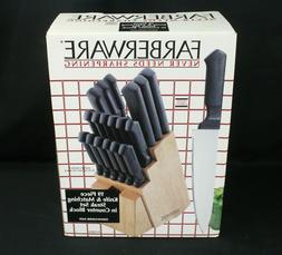 NOS Farberware Never Needs Sharpening 19 Piece Kitchen & Ste