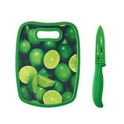 "Sabatier Parer Knife and Non Slip Board, 3.5"", Green"