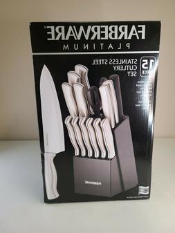 Farberware Platinum High Carbon Stainless Steel Knife Set Wi