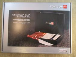 Wusthof Plum 6 piece Steak Knife Set with Presentation Box -