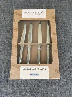 "Porterhouse 4 piece 5"" steak knife set Tramontina sabatier O"