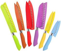 Utopia Kitchen 12-Piece Colored Knife Set - Super Sharp and