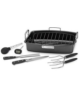"""Cuisinart 17"""" x 13"""" Roaster Set with Rack & Tools"""