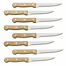 Serrated Steak Knife Set Stainless Steel Blade Cutlery Kitch