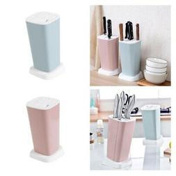 Set of 2 Kitchen Knife Block Set Knife Holder Easy to Clean
