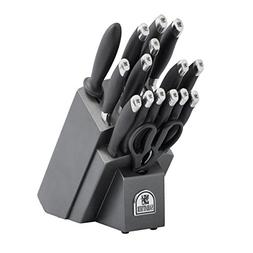 Sabatier 17-Piece Soft Grip Forged Stainless Steel Knife Blo
