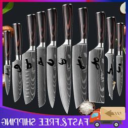 Stainless Kitchen Chef Knife Steel Japanese Damascus Pattern