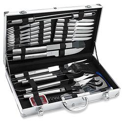 31 Piece Stainless Steel BBQ Accessories Tool Set - Includes