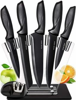 Stainless Steel Chef Knife Set Knives Kitchen Carving Paring