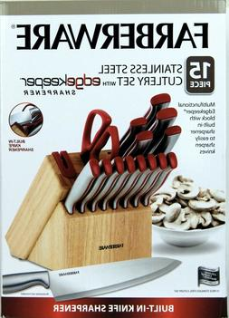 Farberware Stainless Steel Cutlery Knife Set 15 Piece with B