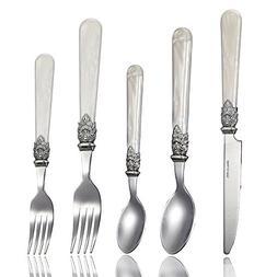 Stainless Steel Silverware Set - 30-Piece Royal Flatware Set