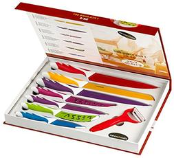 Stainless Steel Gift Knife Set - Elite 8 Piece Color Coated