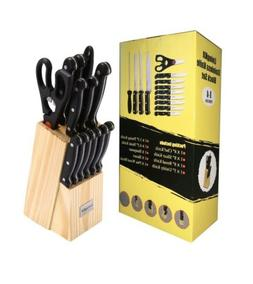 stainless steel knife set with block 14 Piece