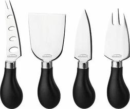 Trudeau Stainless Steel Specialty Cheese Knives, Set of 4