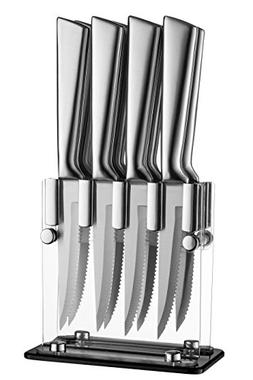 Stainless Steel Steak Knives With Block - High Quality Steak