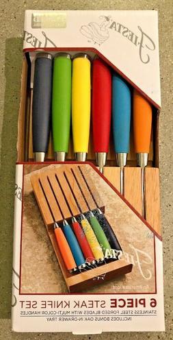 Fiesta Steak Knives, Set with In-Drawer Block
