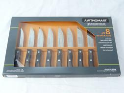 NEW Tramontina 8 Pc. Steak Knives Porterhouse High-carbon St