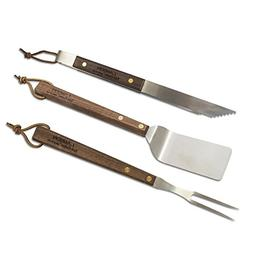 Lamson TAIL-GATER Walnut BBQ  3-Piece Set , Hardened Stainle