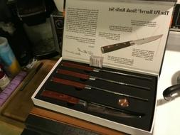 The Pit Barrel Steak Knife Set, NEW, in presentation box, gr