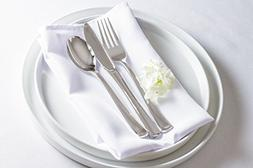 TOEP - 300 Piece Disposable Plastic Silverware Set Cutlery: