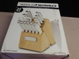 triple rivet 15-piece knife set | white cuisinart cutlery bl