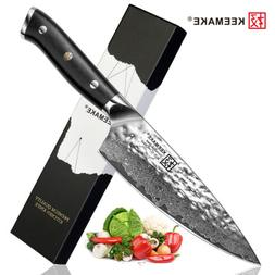 TWIN Japanese Damascus Chef's Knife 6.5 inch AUS-10 Steel Bl