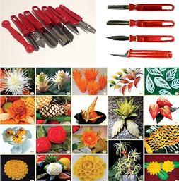 Vegetable Fruit Carving Tools Knife set 4-9 pcs Art Food Sta