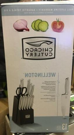 Chicago Cutlery Wellington 13 Pc Stainless Steel Knife Block
