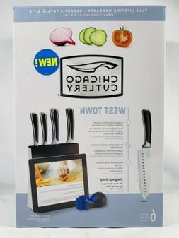 Chicago Cutlery West Town 6-Piece Block Knife Set with IPAD