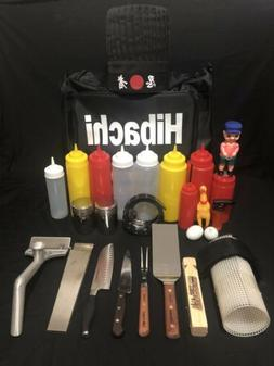 Whole Set Of Hibachi or Teppanyaki Chef Tool All In One (S