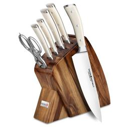 Wusthof Classic Ikon Creme 7-piece Acacia Slim Knife Block S