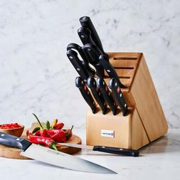 wusthof gourmet 12 piece kitchen knife block